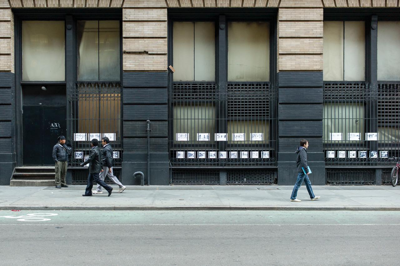 Straßenkunst, SoHo, New York City, 8. Oktober 2012