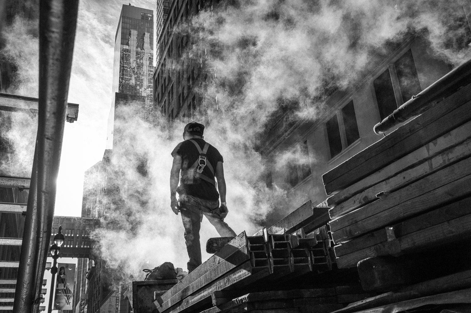 Stahlarbeiter, New York City, 8. Oktober 2012